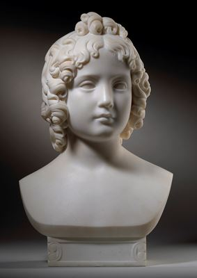 Head of a Child, traditionally identified as Princess Maria Franziska von Liechtenstein (1834-1909)