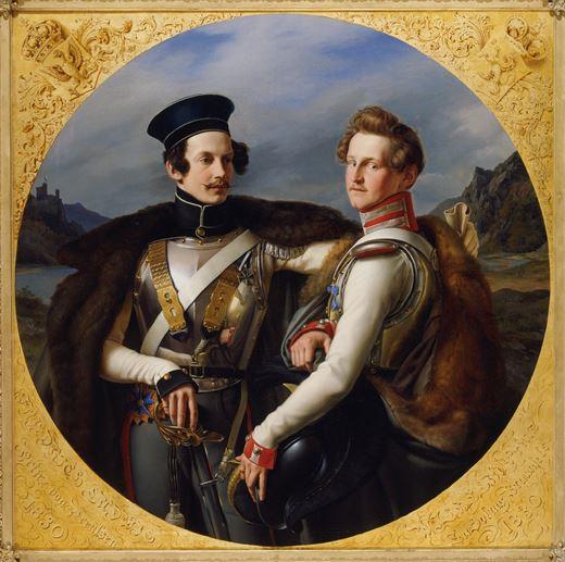 A portrait of Prince Friedrich Wilhelm Ludwig and Wilhelm zu Solms - Braunfels