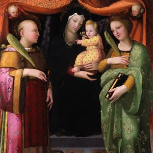 The Madonna and Child with Saint Lawrence and Saint Catherine of Alexandria