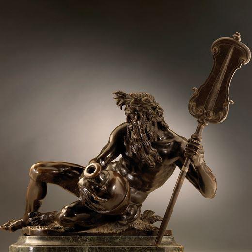 Reclining River God (a fountain figure)