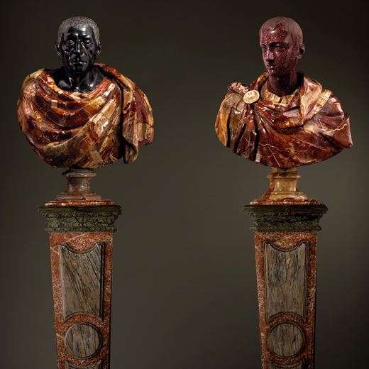 An Important Pair of Busts of Horace and Cicero