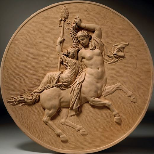 A female Centaur with a Bacchante & a male Centaur with a Bacchante