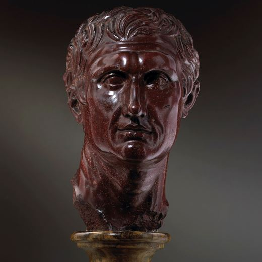 Porphyry Head of the Greek Playwright Menander