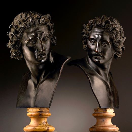A Pair of Busts of the Dioscuri, after the Antique