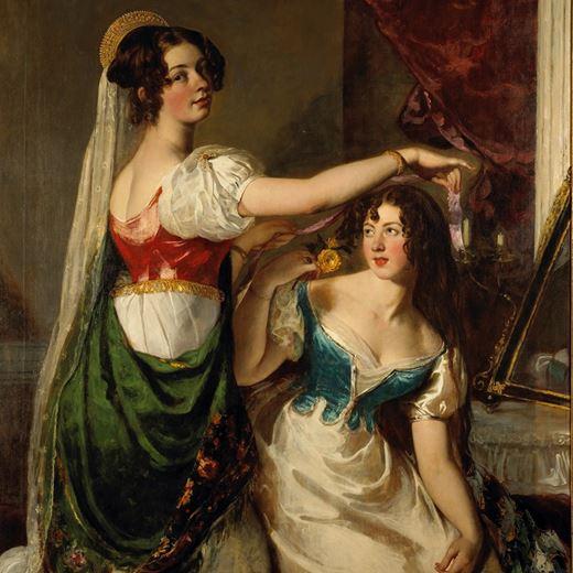 Preparing for a Fancy Dress Ball (Charlotte and Mary Williams-Wynn)