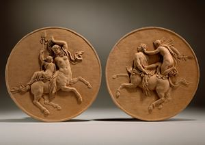 A female Centaur with a Bacchante & a male Centaur with a Bacchante, circa 1770