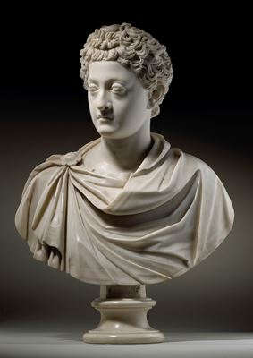Portrait bust of young Commodus, after the Antique