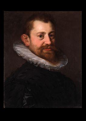 Portrait of Adriaen de Vries, wearing a white ruff and a black doublet, half length
