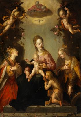 Madonna and Child with Adoring Saints and God the Father