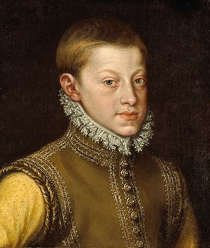 Portrait of Emperor Rudolph II, as a young man, aged approximately 14 or 15 years old, bust length