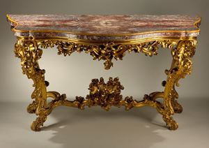 Important pair of mid 18th century console tables