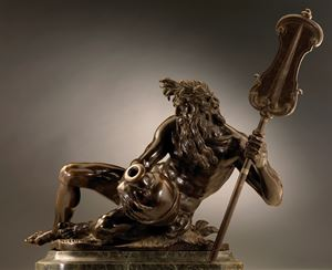 Reclining River God (a fountain figure)