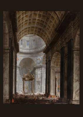 View of the interior of the Basilica of St. Peter's, Rome